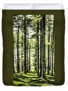 Birch Forest Fractal Duvet Cover