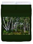 Birch Grove In The Sunlight Duvet Cover