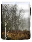 Birch In Winter Duvet Cover