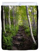 Birch Woods Hike Duvet Cover