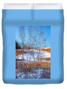 Birches And Cattails Duvet Cover