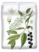Bird Cherry Cerasus Padus Or Prunus Padus Duvet Cover