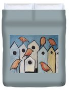 Bird Condo Association Duvet Cover