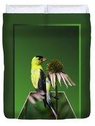 Bird Eating Seeds Duvet Cover