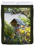 Bird Feeder Amongest The Grapevines Duvet Cover