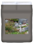 Bird House And Chimes Duvet Cover