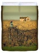 Bird House And Farm Duvet Cover