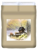 Bird House In Autumn Duvet Cover