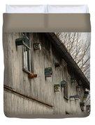 Bird Houses Duvet Cover