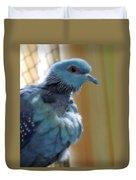Bird In Blue Dress Duvet Cover