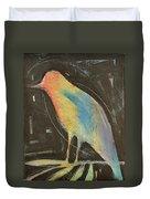 Bird In Gilded Frame Sans Frame Duvet Cover