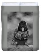 Bird In Your Face Bw Duvet Cover