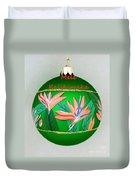 Bird Of Paradise Christmas Bulb Duvet Cover