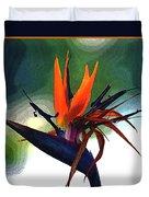Bird Of Paradise Flower Fragrance Duvet Cover
