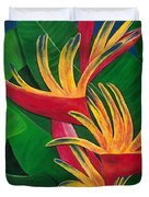 Bird Of Paradise Painting Duvet Cover