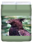 Bird Of Prey In Watercolor Duvet Cover