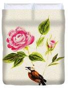 Bird On A Flower Duvet Cover