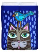 Bird On Top Duvet Cover