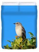 Bird On Tree Top Duvet Cover