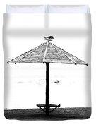 Bird On Umbrella Duvet Cover