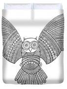 Bird Owl 3 Duvet Cover by MGL Meiklejohn Graphics Licensing