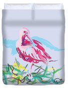 Bird Red Ibis Duvet Cover