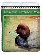 Bird Stamp Duvet Cover