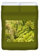 Bird View Of Lush Green Sub-tropical Nz Rainforest Duvet Cover