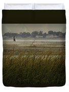 Bird Watching At Milford Point Duvet Cover
