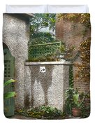 Birdhouse And Gate Duvet Cover by Terry Reynoldson