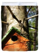 Birdhouse By Line Gagne Duvet Cover