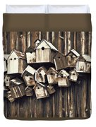 Birdhouse Condominium Duvet Cover