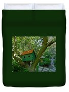 Birdhouse In A Tree Duvet Cover
