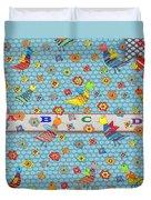 Birds And Flowers For Children Duvet Cover