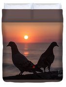 Birds At Sunrise Duvet Cover by Nelson Watkins