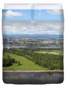 Birds Eye View Of Portland Duvet Cover