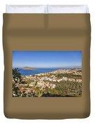 Birds Eye View Of Crete Greece Duvet Cover