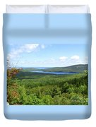Bird's Eye View Of Eagle Lake Duvet Cover
