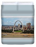 Bird's Eye View Of St.louis  Duvet Cover