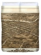 Bird's-eye View Of Youngstown Ohio 1882 Duvet Cover