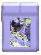 Birds - Fighting - Herons Duvet Cover