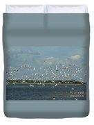 Birds In Flight Duvet Cover