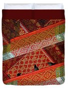 Birds In Rafters Of Royal Temple At Grand Palace Of Thailand  Duvet Cover
