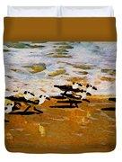 Birds In The Surf Duvet Cover