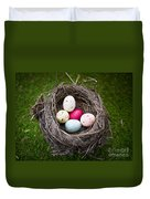 Bird's Nest With Easter Eggs Duvet Cover
