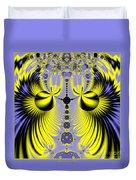 Birds Of Paradise Fractal 160 Duvet Cover