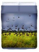 Birds Of The Wetlands V11 Duvet Cover