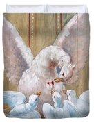 Birds Of Toledo Street Art Duvet Cover