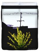 Birds On A Wire In Cooper Young Duvet Cover