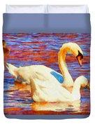 Birds On The Lake Duvet Cover